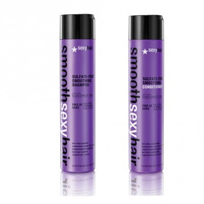Smooth Sexy Hair Daily Set (Sulfate Free Shampoo 300ml + Sulfate-Free Conditioner 300ml)