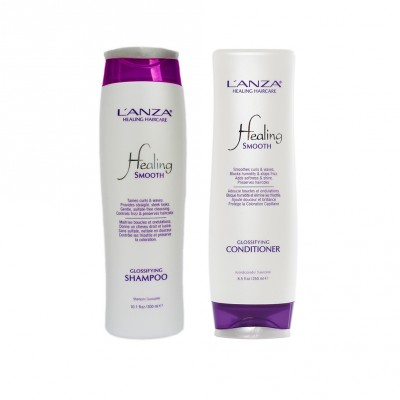 L'anza Healing Smooth Glossifying Set (Shampoo 300ml + Conditioner 250ml)